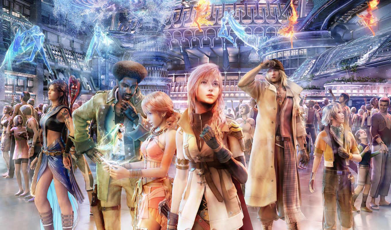 fantasy, final, colors, full, аниме, xiii, игра, игры,