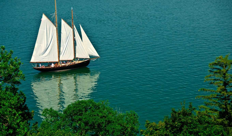 яхта, парусник, море, корабль,