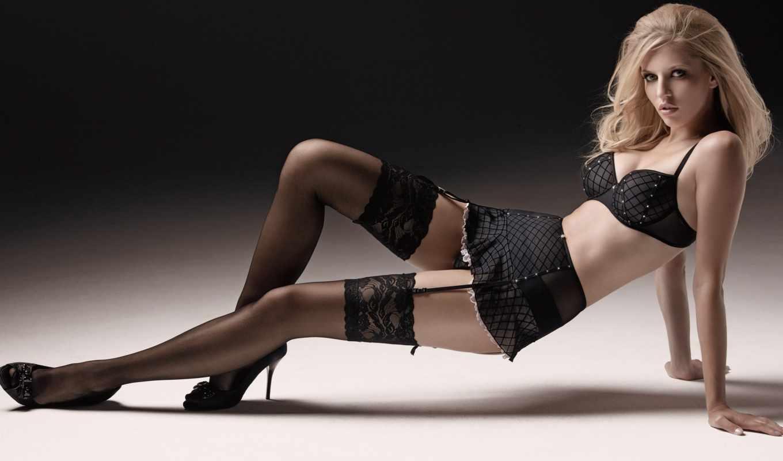 чулках, девушка, girls, stockings,