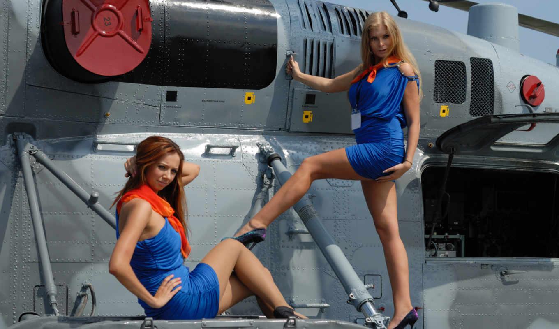 devushki, girls, бикини, мини, заставки, изображение, вертолеты, два, авиация,