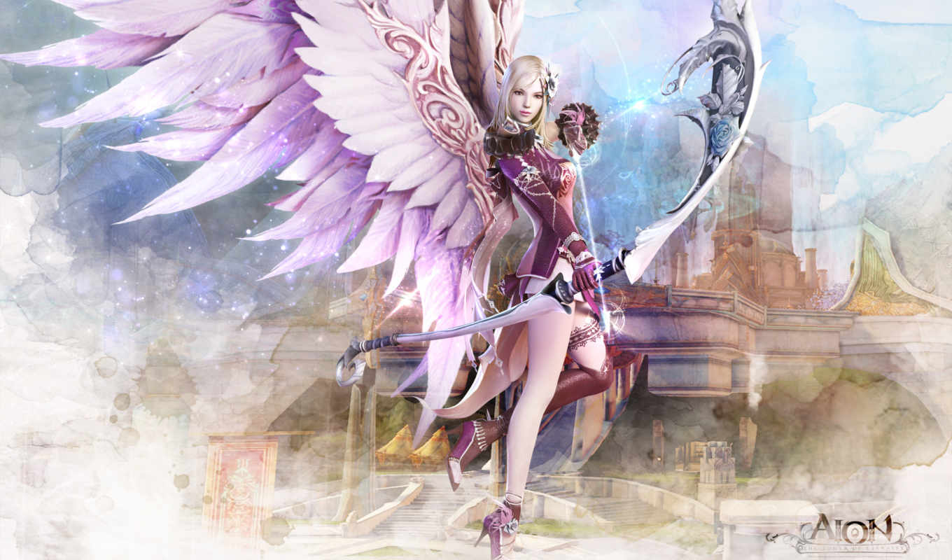 angel, aion, fantasy, девушка, game, more, see, angels, об,
