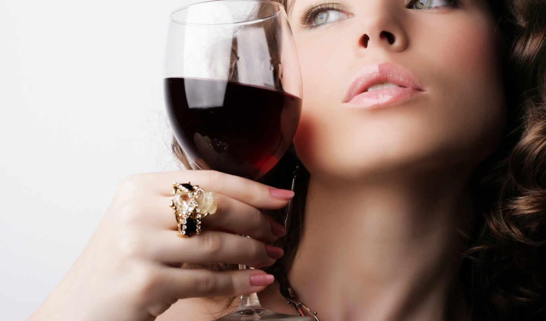 бокал, вино, wine, девушка, with, lady, алкоголь, вина, девушки, смотрите, бокалом, có,