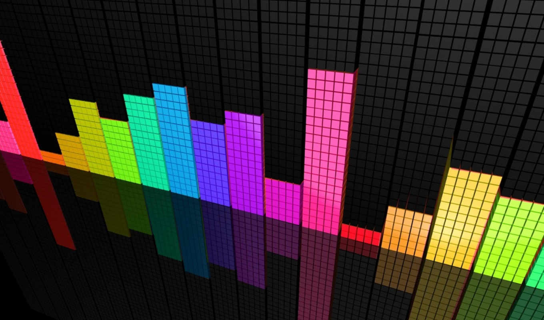 equalizer, colorful, perspective, color, graph, рендеринг, колор, спектра, смотрите, анализатор,