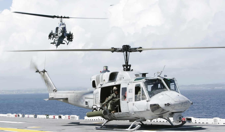 bell, uh, huey, ah, iroquois, вертолет, американский,