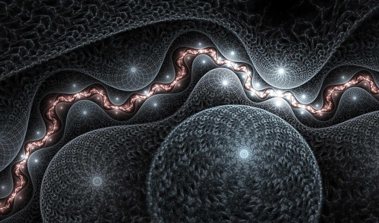 abstrakciya, grafika, шарами, плетеными, серая, игры,