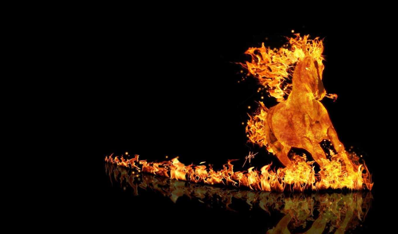 лошадь, огненная, лошади, аватарки, красивые,
