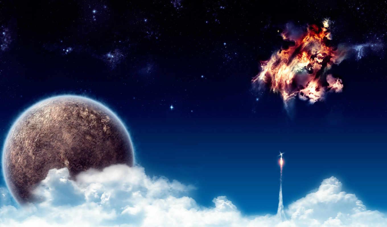 космоса, рисунки, красивые,