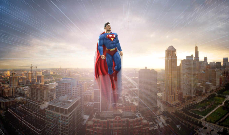 superman, город, взгляд, cities, free,