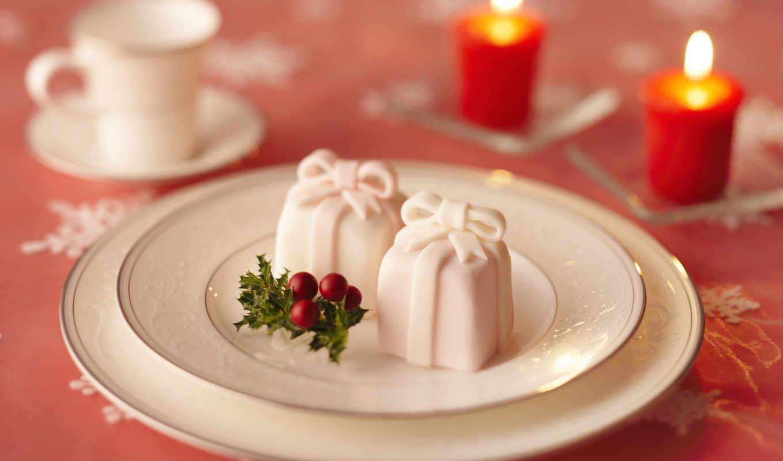 narodzenie, boże, świece, dekoracja, babeczki, pulpit, рождения, tapety, праздник, świąteczne,