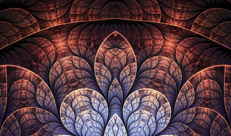 узоры, pattern, абстрактные, fractal, art, лепестки, абстракция, Мозаика, линии,