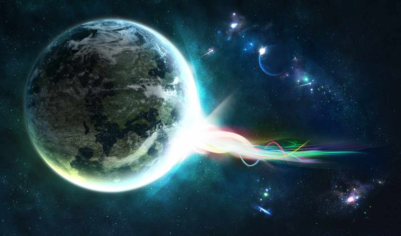 звезды, планета, энергия, космос, планеты, digital, stars, widescreen, fantasy, art,
