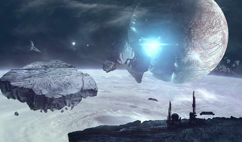 космос, взрыв, обломки, планета, станция, арт, правой, картинке, браузера, нажать, кнопкой, картинку, контекстном, выбрать,