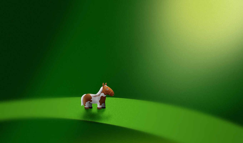 пони, зелёный, лист, лошадь, micro, toy,