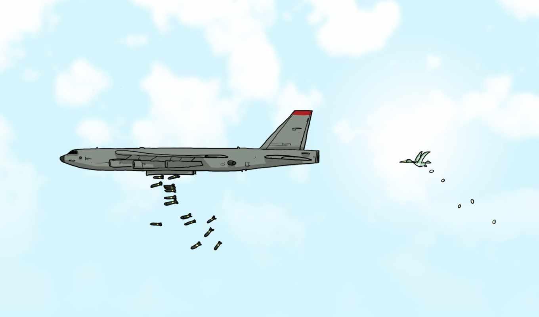 юмор, самолет, карикатура, бомбардировщик, wulffmorgenthaler, бомбежка, wallpaper, desktop, bird, смотрите, bomberfirst, hd,