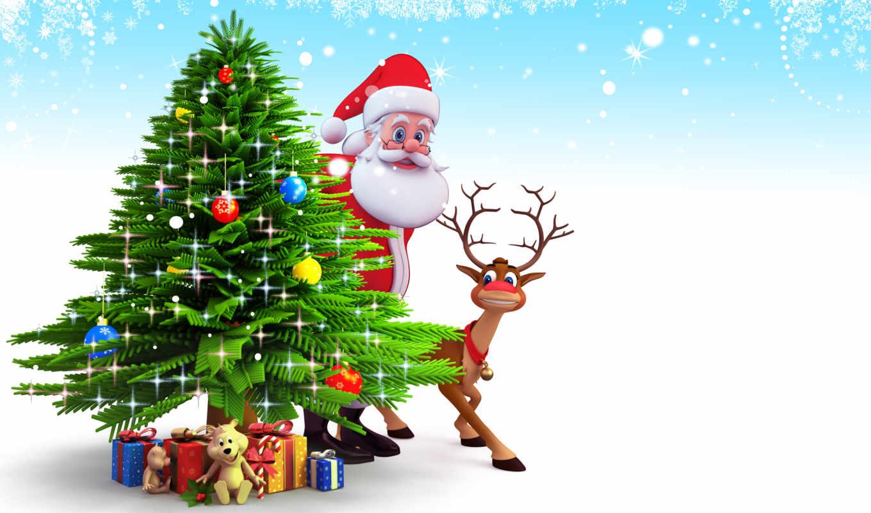 new, год, иней, дед, праздники, графика, christmas,