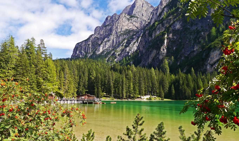 природа, горы, озеро, foto,