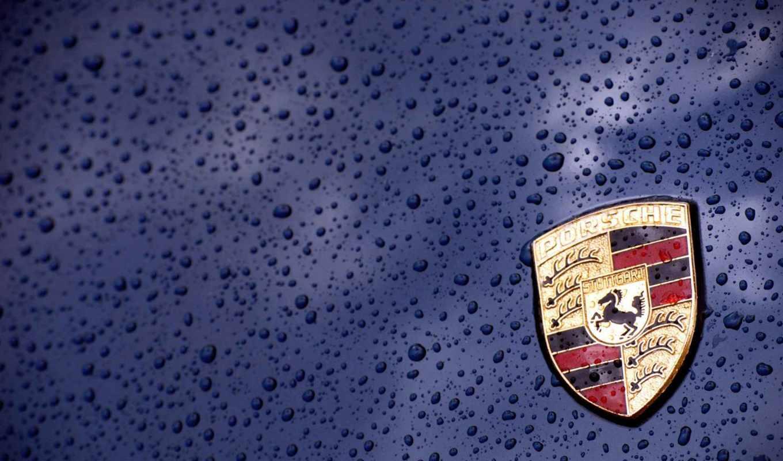 авто, логотип, эмблема, макро, arms, porsche, blue, тачки, cars,