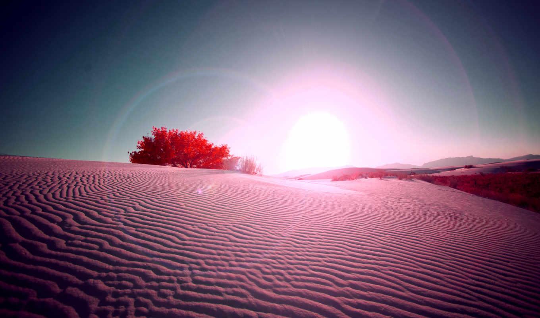 пустыня, песок, sun, красная, красивая,