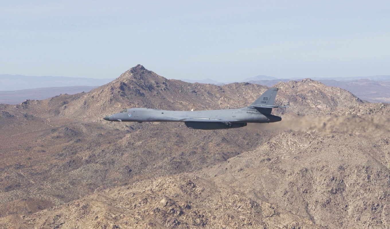 военный, бомбардировщик, rockwell, lancer, air, сила, самолёт,