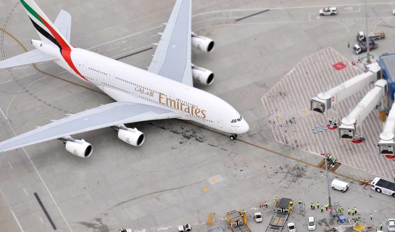 самолёт, взгляд, пассажирский, сверху, airport, авиалайнер, земле,