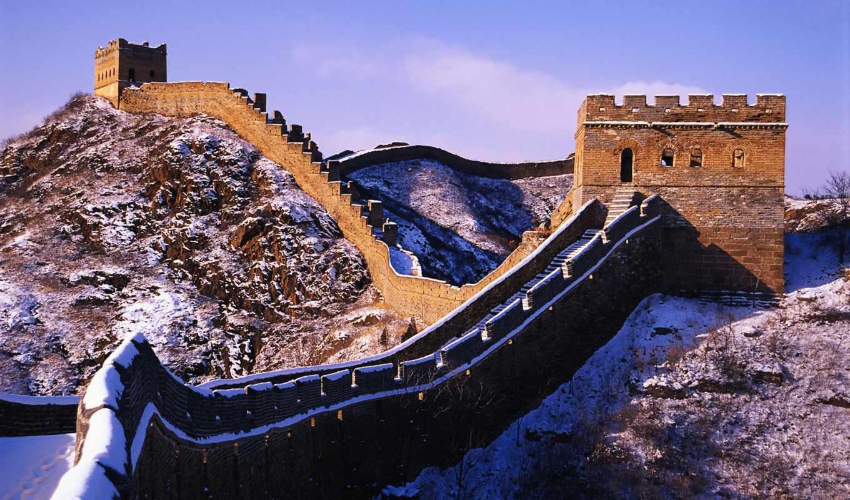 wallpaper, wall, great, desktop, china, стена, китайская, великая, la, снег, and,