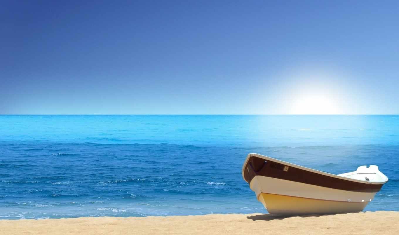 beach, boat, sea, nature, das, bote, playa,