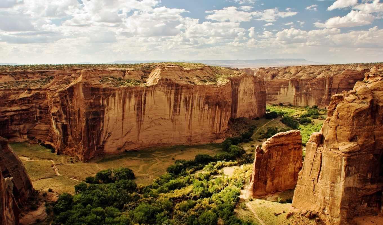 kanon, пейзаж, небо, горы, просмотреть, скалы, oblaka, пустыня,