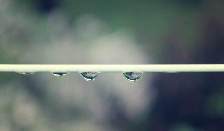 капли, высоком, макро, drops, water,