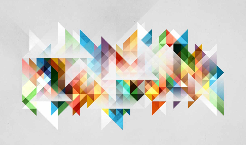 треугольники, геометрия, абстракция, фигуры,