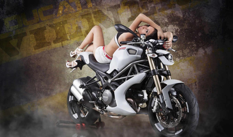 фотографий, devushki, мотоциклах, мотоцикл, красивые,