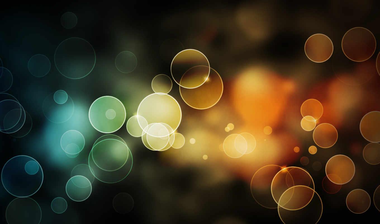 блики, круги, multicolored, дек,