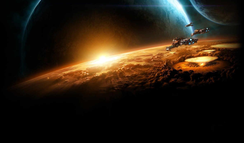 starcraft, игры, horizon, over, battlecruisers, battlecruiser, космос,