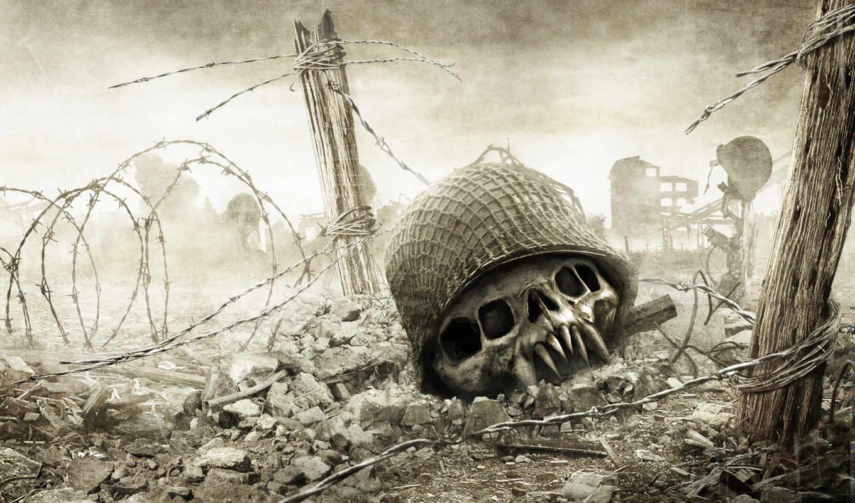 resistance, skull, honor, medal, fall, man, free, games, graphics, игры,