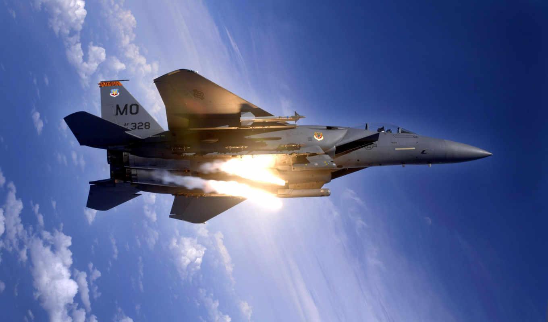 eagle, strike, самолёт, fighter, avia, авиация, военный, high, jet, missile,