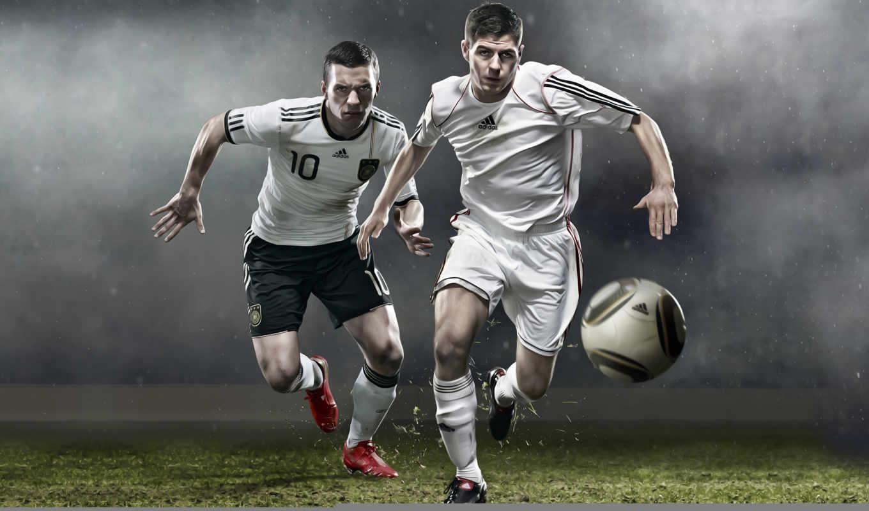футбол, gerrard, адидас, podolski, мяч, картинка,
