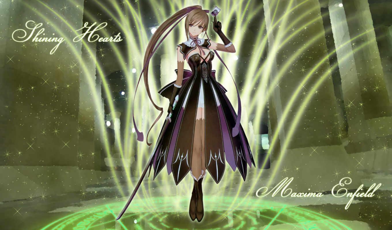 taka, tony, hearts, shining, maxima, weapon, картинка, enfield, sword, hair, long,