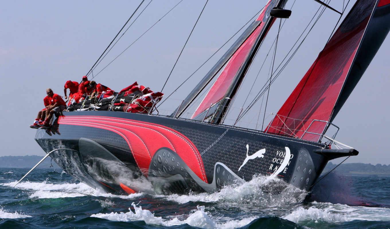 яхта, спорт, паруса, яхты, море, парусник, ocean, люди,