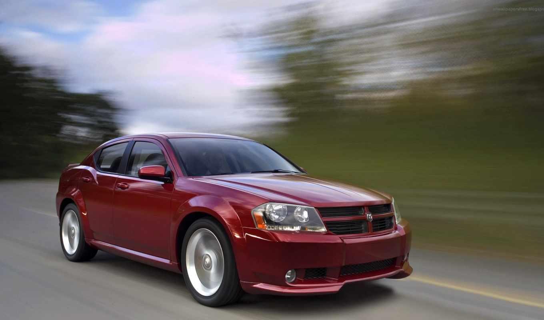 dodge, avenger, concept, автомобиля, додж, car, красного, движении, картинку, автомобили,