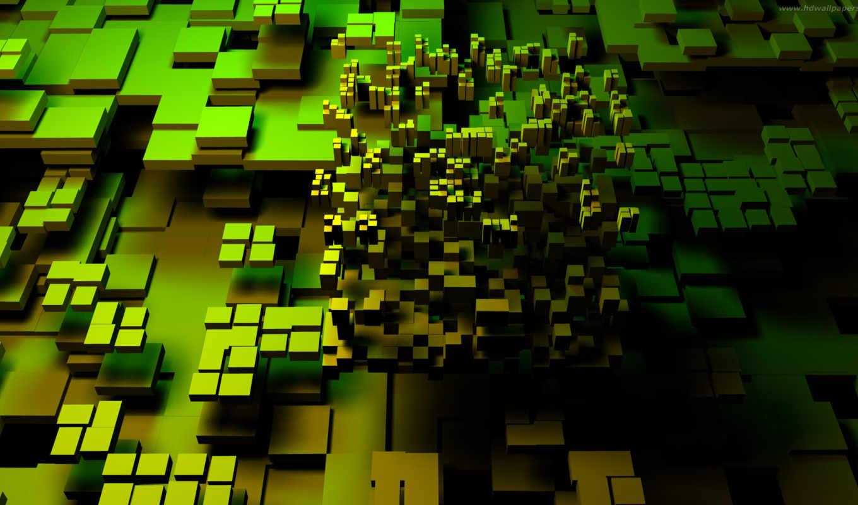 cubes, desktop, зелёный, абстракции, fantasu, background, download, iphone, cube,