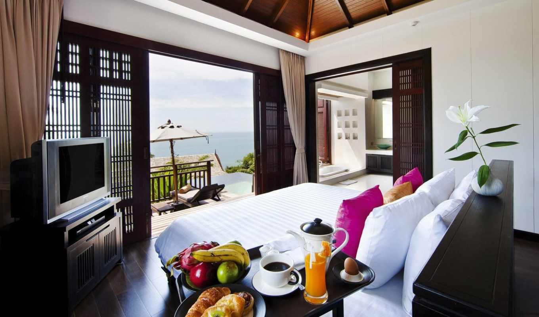 samui, design, villas, resort, spa, bhundhari, bild, thailand,