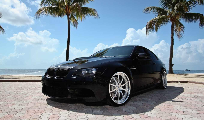 бмв, bmw, black, совершенно, авто, пальмы,