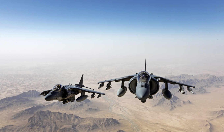 истребители, harrier, штурмовики, море, пехоты, эскадрильи, производят, воздухе, корпуса, разрушители,