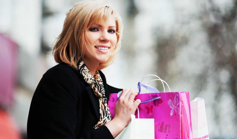 девушка, покупки, пакеты, shopping, магазин, розовый, девушки, шопоголик, blonde,