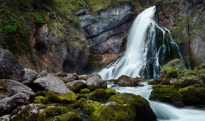 водопад, природа, водопады,