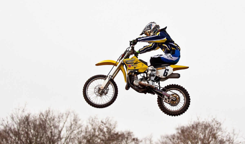 прыжок, мотоцикл, спорт, мотокрос,