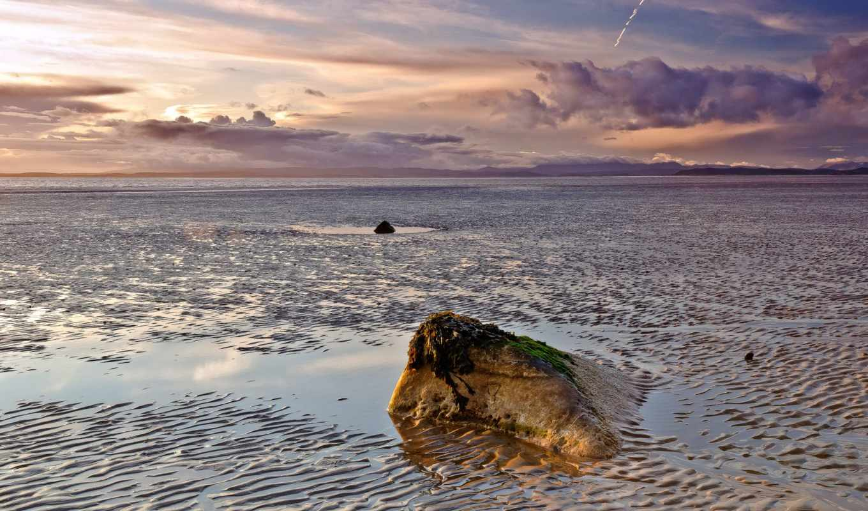 море, пляж, небо, oblaka, desktop, naruto, камень, sasuke,