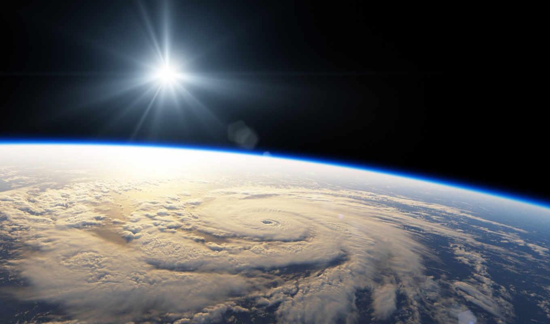 планета, космос, свет, звезда, ураган, картинку, earth,