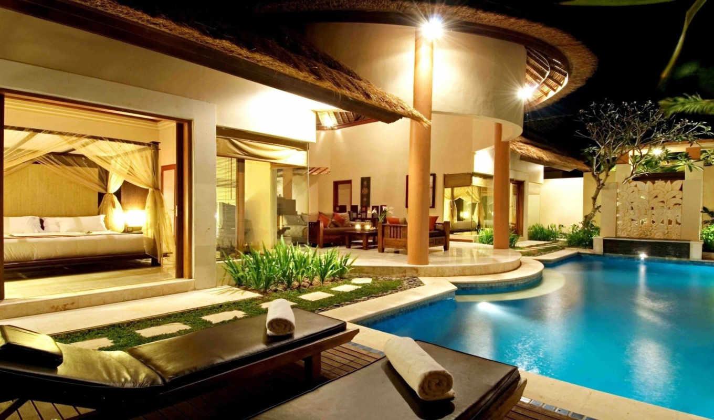 роскошная, villa, бассейном,