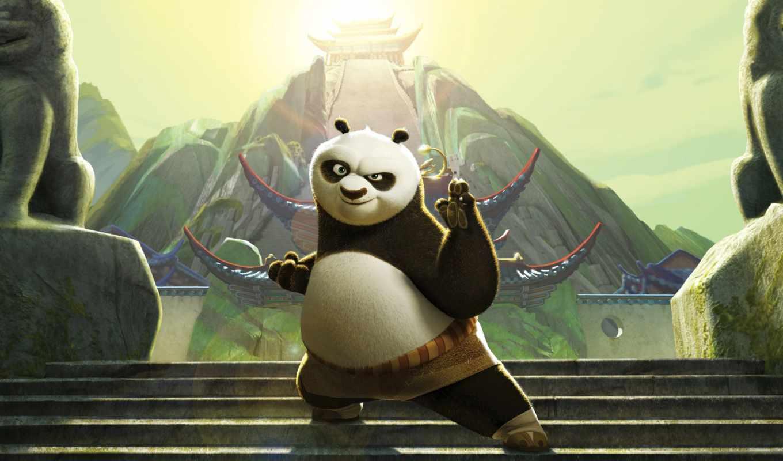 панда, кунг, boo, cartoon, dreamworks,