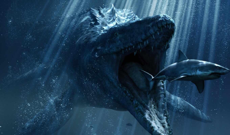 jurassic, период, динозавр, миро
